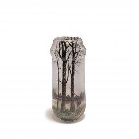 'biches Et Cerf En Hiver' Vase, C1920