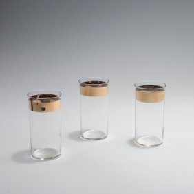 Three Water Tumblers From The 'wertheim' Set, 1902
