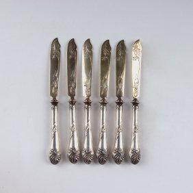 Six Fruit Knives For The Paris World Fair 1900