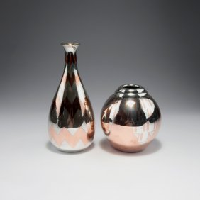Two 'dinanderie' Vases, C1928