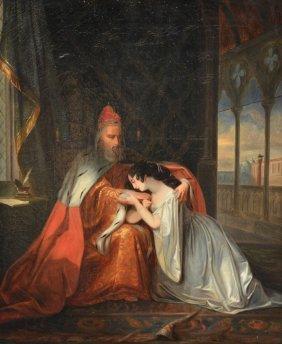 Unsigned, A Historizicing Scene Depicting A Venetian