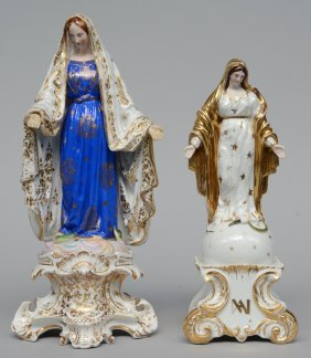 Two 'brussels Porcelain' Groups Figuring The Holy