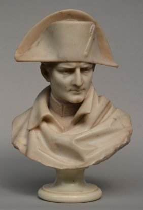 An Exceptional Portrait Buste Of Bonaparte In White