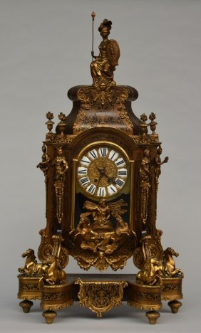 A Lxiv-style Cartel Clock With Boulle Marquetry And