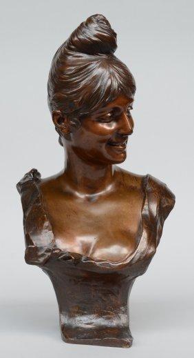 Van Der Straeten G., A Bust Of A Smiling Birthday Girl,