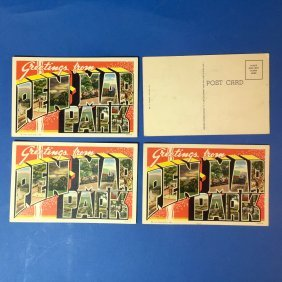 Lot Of 4 Vintage Pen Mar Park Postcards