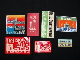 1940's-60's Hotel Luggage Labels
