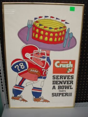 1978 Orange Crush Super Bowl Poster