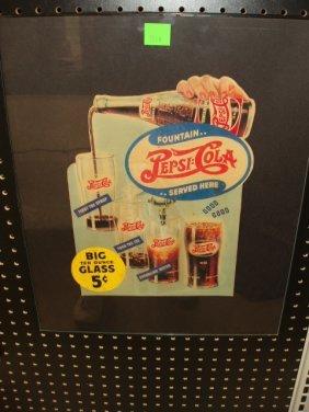1945 Pepsi Cola Cardboard Sign