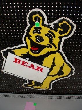 1970's-80's Tin Bear Automotive Sign