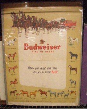 1953 Budweiser Advertising Poster