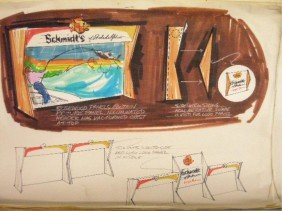 1960's & 1970's Schmidt's Beer Ad Campaign Designs