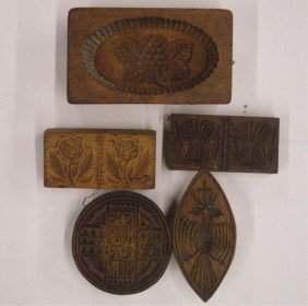 19th C. Wood Butter Molds