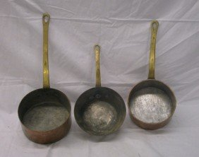 Antique Copper Cooking Pots