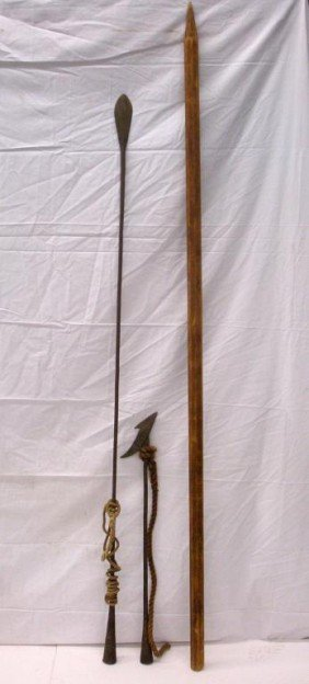 19th C. Whaling Lance, Harpoon & Pole