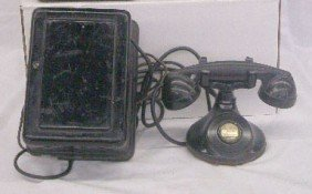 Western Electric Telephone With Wall Mount Box