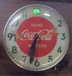 1950's Coca Cola Wall Clock