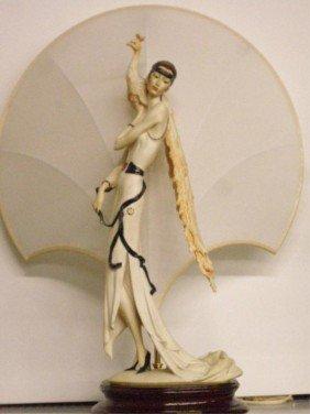 Giuseppe Armani Art Deco Female Table Lamp