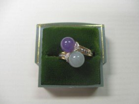 14k YG & Jade Ring