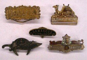 Early 20th C. Shriners Temple Pins