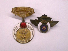 1914 Shriners Council Session Pins