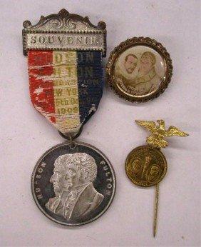 1909 Hudson-Fulton Celebration Pins
