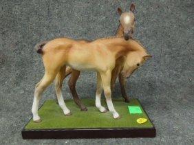 Cybis Bisque Figure Horses