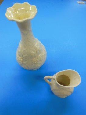 2 Pieces Belleek Porcelain