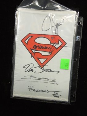 Signed Adventures Of Superman #500