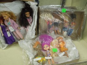 11 Mattel Poly Pockets & Other Character Dolls