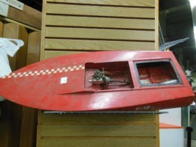 Wood Model Motor Boat
