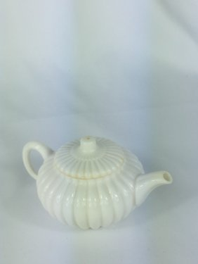 A Small Chinese White Glazed Teapot