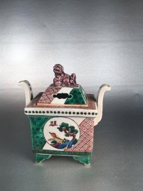 Japanese Porcelain Sancai Censer