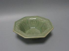Chinese Porcelain Celadon Blue Glaze Bowl
