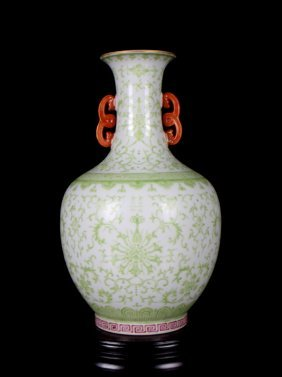 Chinese Porcelain Green Painted Vase