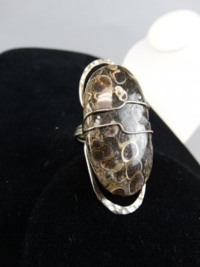 Silver & Fossil Ring