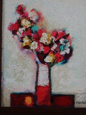 David Adickes - Still Life - Acrylic On Panel