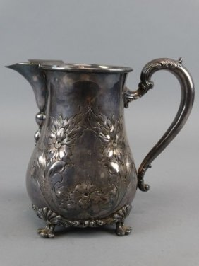 Amston Silver Plate Water Pitcher