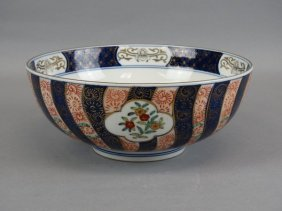Large Hand Painted Japanese Imari Bowl