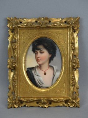 Portrait Miniature Of Neopolitan Girl