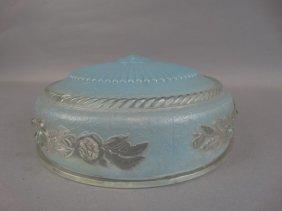 Ornate Vintage Blue Light Shade