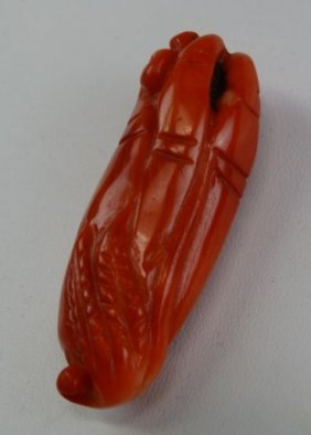 Red Coral Carving - Buddha's Hand