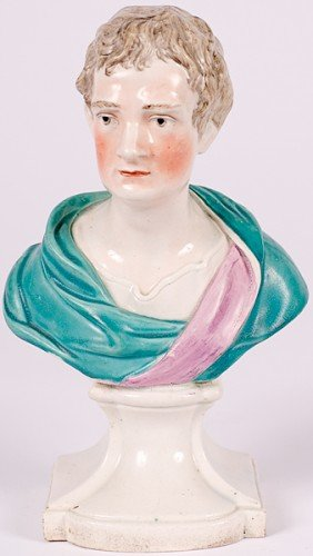 Pearlware Bust Of Sir Isaac Newton�