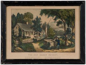The Old Oaken Bucket Currier And Ives Print�