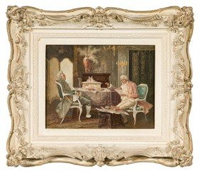 Interior Painting (Continental, 19th Century)�