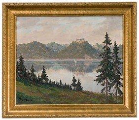Willi Geiger (German, 1878-1971) Bavarian Landscape