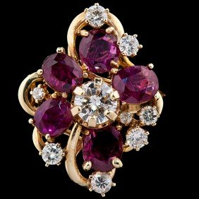 Garnet & Diamond Cocktail Ring�