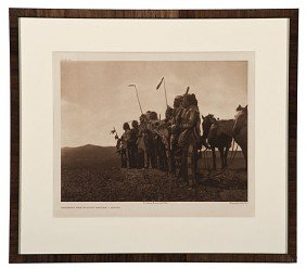 Edward S. Curtis Photogravure Awaiting The Scout's