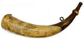 Early American Tansel Powder Horn�