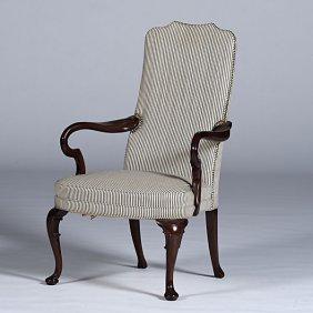 Queen Anne Shepherd's Crook Armchair